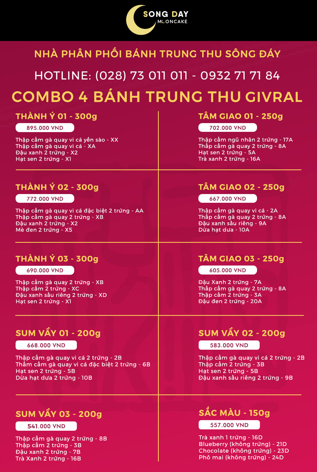 combo givral 4 banh